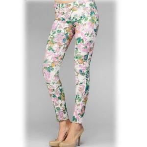 7FAM Kauai Floral Skinny Jeans